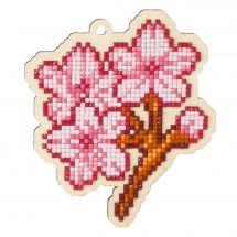 Supporto in legno Ricamo a diamante - Wizardi - Sakura
