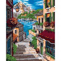 Kit di pittura per numero - Wizardi - Vicolo europeo