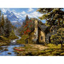 Kit di pittura per numero - Wizardi - Rifugio forestale