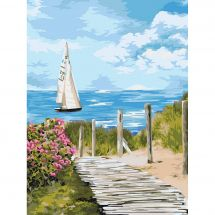 Kit di pittura per numero - Wizardi - Sentiero verso l'orizzonte