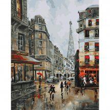 Kit di pittura per numero - Wizardi - Giorno a Parigi