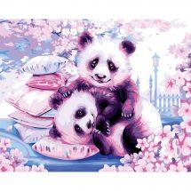 Kit di pittura per numero - Wizardi - Panda giapponese