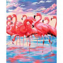 Kit di pittura per numero - Wizardi - Lago Rosa