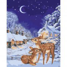 Kit di pittura per numero - Wizardi - Vigilia di Natale