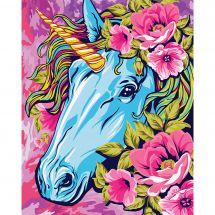 Kit di pittura per numero - Wizardi - Unicorno da favola