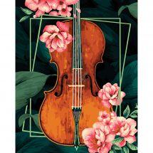 Kit di pittura per numero - Wizardi - Violino d'epoca