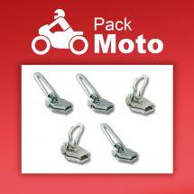 Cursore per la chiusura - ZlideOn - Lotto di 5 cursori argento - Confezione Moto